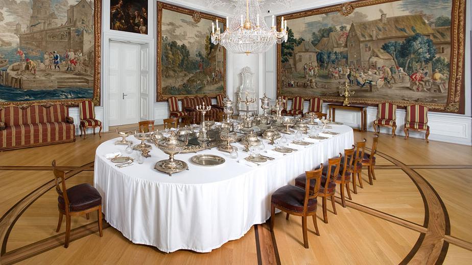 Erstes Vorzimmer in Schloss Mannheim; Foto: Staatliche Schlösser und Gärten Baden-Württemberg, Christoph Hermann