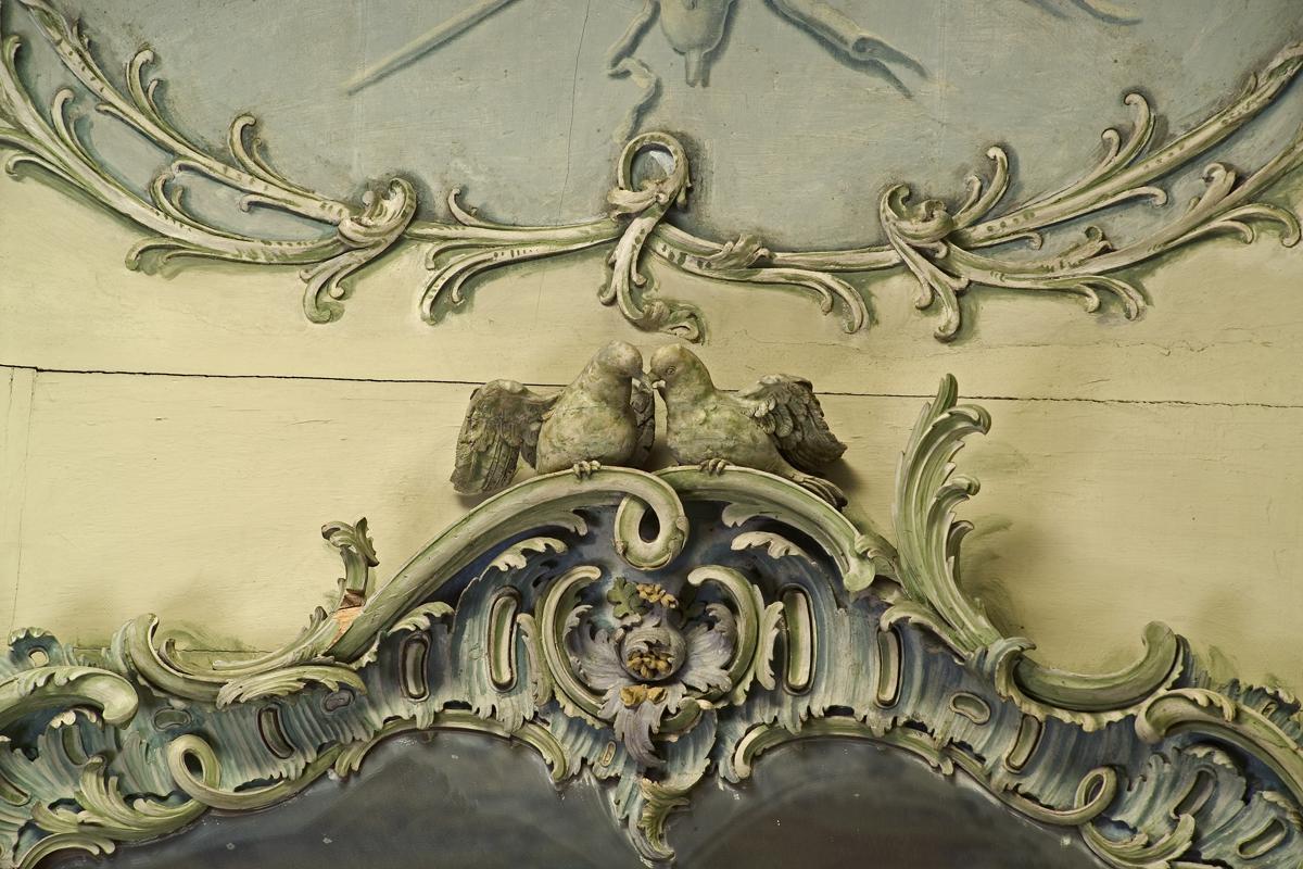 Stucco ornamentation in the Library Cabinet of Mannheim Palace. Image: Staatliche Schlösser und Gärten Baden-Württemberg, Andrea Rachele