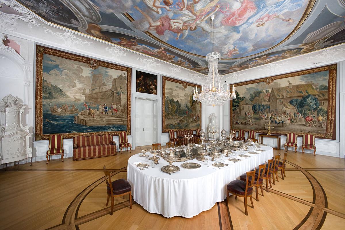The first antechamber in Mannheim Palace. Image: Staatliche Schlösser und Gärten Baden-Württemberg, Christoph Hermann