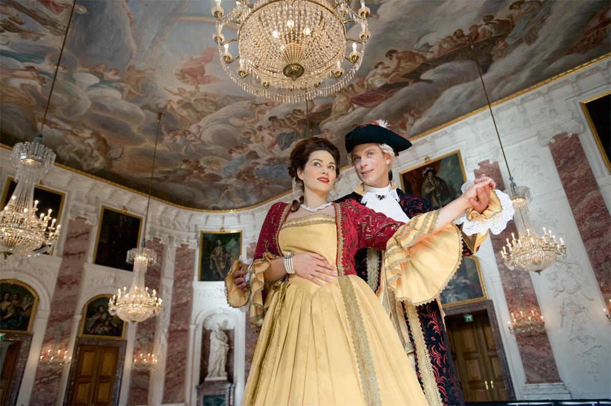 A party at Mannheim Baroque Palace. Image: Staatliche Schlösser und Gärten Baden-Württemberg, Niels Schubert