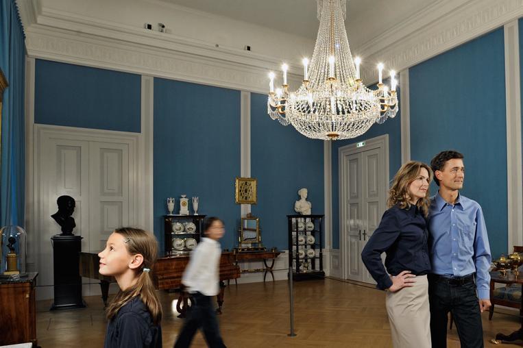 Visitors in Mannheim Palace. Image: Staatliche Schlösser und Gärten Baden-Württemberg, Niels Schubert