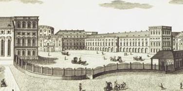 Kurfürstliches Schloss Mannheim, Kupferstich von 1782, gestochen von den Brüdern Klauber; Foto: Staatliche Schlösser und Gärten Baden-Württemberg, Andrea Rachele