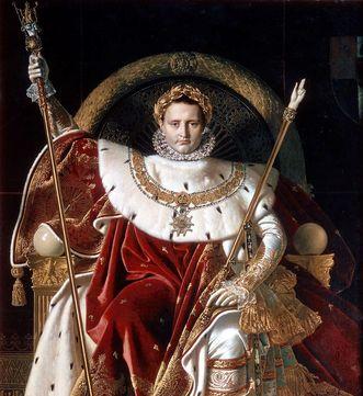 Portrait Kaiser Napoleon I. mit seinen Krönungsinsignien
