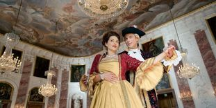 A party at Mannheim Baroque Palace.