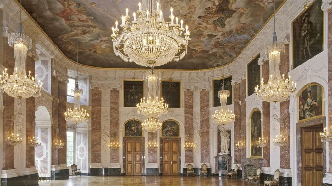 Château Baroque de Mannheim, la salle des chevaliers; l'image: Staatliche Schlösser und Gärten Baden-Württemberg,