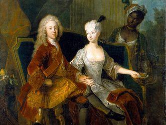 Erbprinz Friedrich Ludwig und Henriette Marie, Antoine Pesne um 1716
