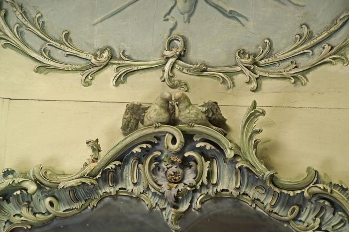 Mannheim Baroque Palace, stucco in the Library and Garden Cabinet