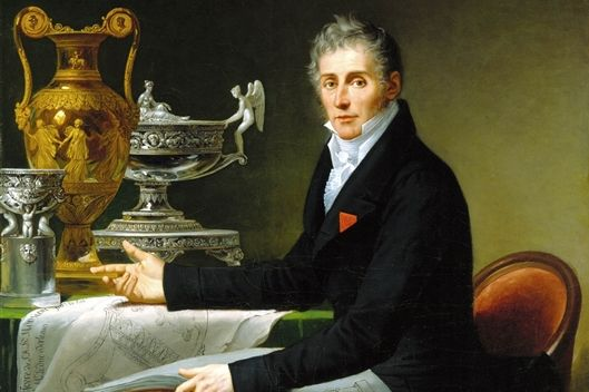 Detail from the portrait of Jean-Baptiste-Claude Odiot. Image: Wikipedia, in the public domain