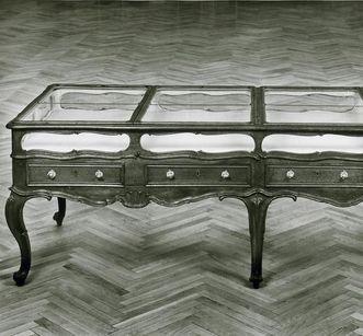 Mannheim Baroque Palace, table display case in the Natural History Cabinet. Image: Staatliche Schlösser und Gärten Baden-Württemberg, Robert Häusser