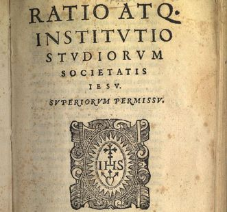 "The ""Ratio Studiorum,"" guidelines and instructions for Jesuitical child-rearing and education. Image: Wikipedia, in the public domain"