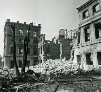 Kriegszerstörungen am Schloss Mannheim