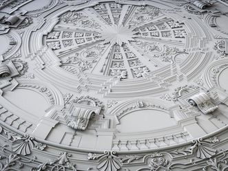 Barockschloss Mannheim, rekonstruierte Stuckdecke