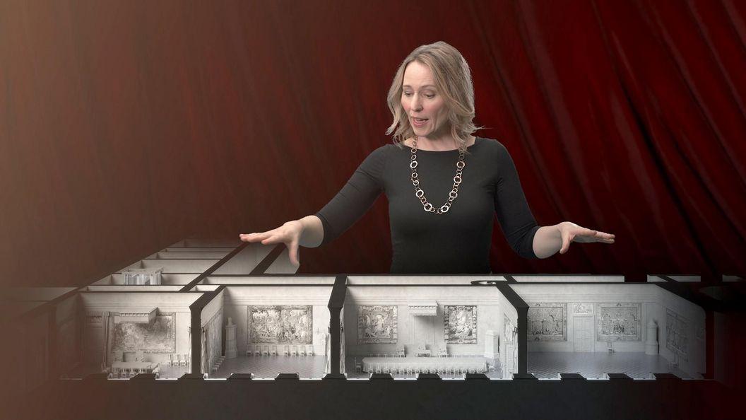 """Barockschloss Mannheim, Ausstellung """"Glanz der Kurfürsten"""", Ausschnitt 3D Rekonstruktion"""
