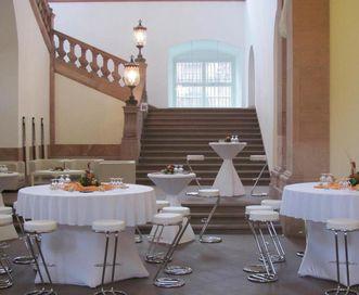 Mannheim Baroque Palace, foyer garden saloon