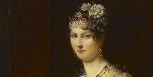 Portrait of Grand Duchess Stéphanie von Baden, first half of the 19th century, replica by Schmitt of François Gérard, likely the court painter of Karlsruhe.