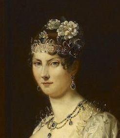 Portrait of Grand Duchess Stéphanie von Baden, first half of the 19th century, replica by Schmitt of François Gérard, likely the court painter of Karlsruhe. Image: Staatliche Schlösser und Gärten Baden-Württemberg, Arnim Weischer