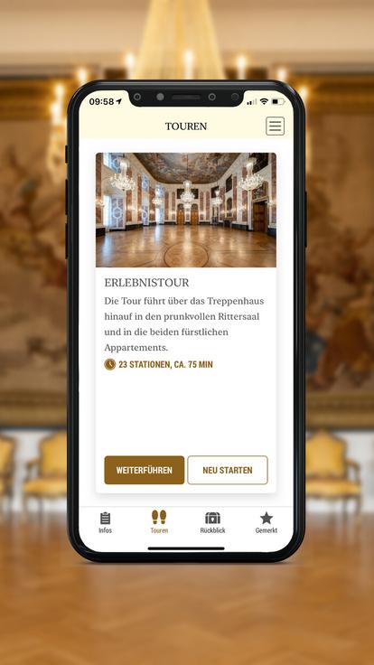 Barockschloss Mannheim, Startseite der Erlebnistour