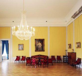 Gelber Salon von Schloss Mannheim; Foto: Staatliche Schlösser und Gärten Baden-Württemberg, Dirk Altenkirch