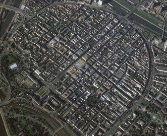 A modern aerial view of Mannheim. Image: Landesmedienzentrum Baden-Württemberg, Lutz Hecker