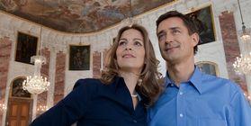 Besucherpaar in Barockschloss Mannheim