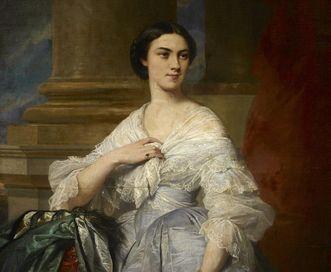 Marie Amalie Elisabeth Karoline (1817–1888), Tochter von Großherzog Karl und Großherzogin Stéphanie;  Foto: Staatliche Schlösser und Gärten Baden-Württemberg, Arnim Weischer