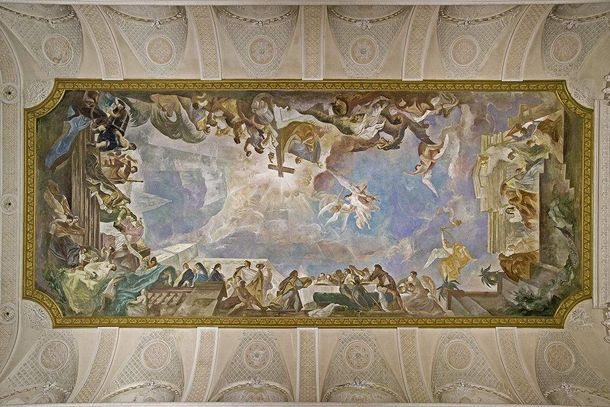 Mannheim Baroque Palace, Painted ceiling
