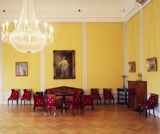 Gelber Salon in Schloss Mannheim;  Foto: Staatliche Schlösser und Gärten Baden-Württemberg, Dirk Altenkirch
