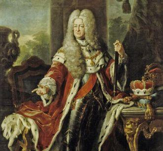 Bildnis Kurfürst Carl Philipp von der Pfalz, Gemälde von Johann Philipp van der Schlichten, 1729, Schloss Mannheim