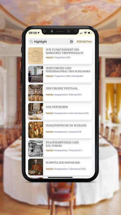 Barockschloss Mannheim, Highlights der Erlebnistour
