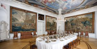 The first antechamber in Mannheim Palace.