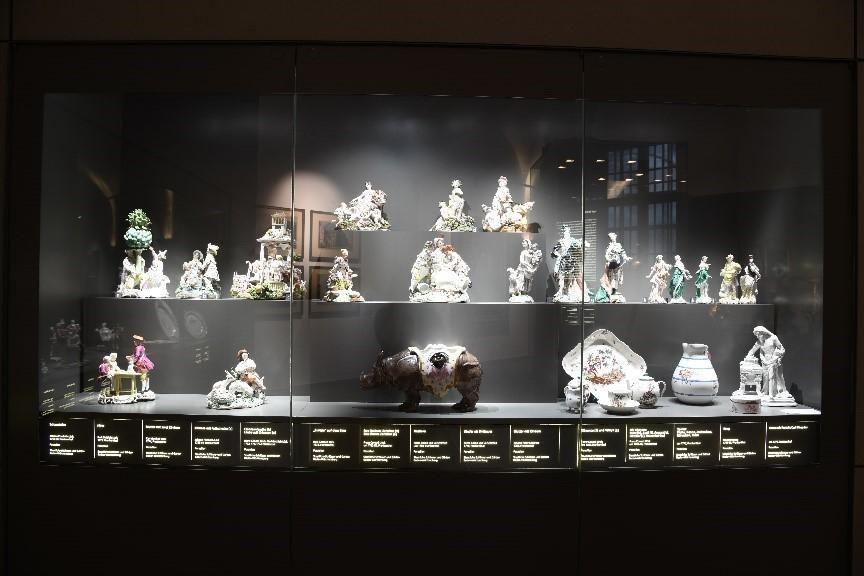 Barockschloss Mannheim Chinoiserien in Vitrine