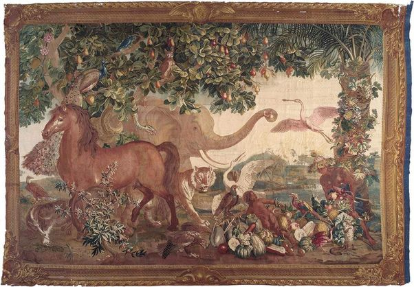 Mannheim Baroque Palace,  Tapestry of an elephant