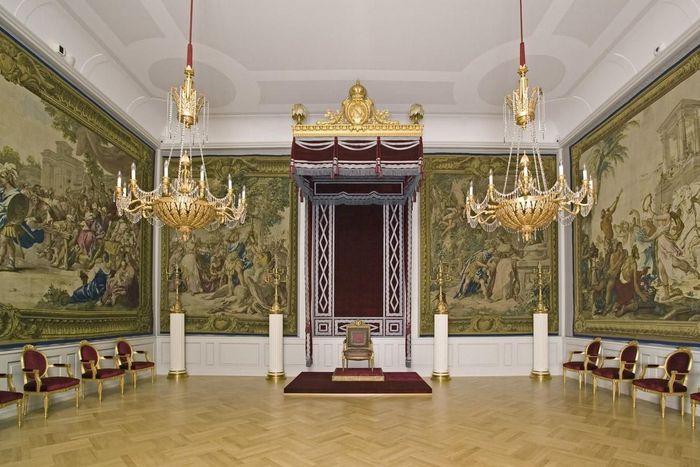 Salle du Trône dans le Quartier impérial du château de Mannheim