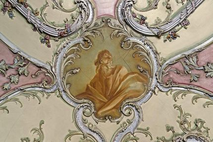 Mannheim Baroque Palace, Portrait cartouche in the library reading room