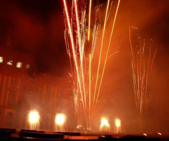 Fireworks in front of Mannheim Baroque Palace. Image: Staatliche Schlösser und Gärten Baden-Württemberg, credit unknown